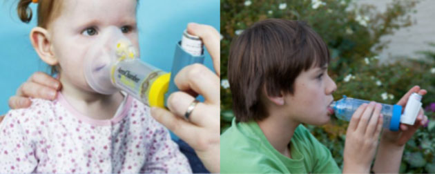 Using a metered dose inhaler for children