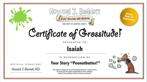 Gross Stories Certificate